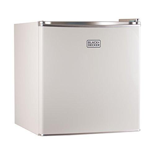 BLACKDECKER BCRK17W Compact Refrigerator Energy Star Single Door Mini Fridge with Freezer 17 Cubic Ft White