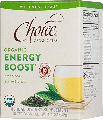 Choice Organic Teas Energy Boost Wellness Tea 16 Count