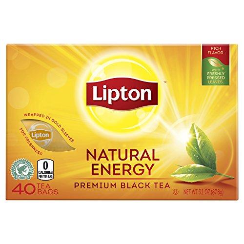Lipton Premium Black Tea Bags Natural Energy 40 ct