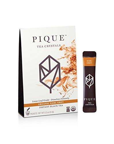 Pique - Cold Brew Instant Tea - USDA Organic Earl Grey Black Tea Powder - Supercharged Antioxidants Calm Energy Sugar Free - 14 Count - Enjoy Hot - Vegan Paleo Gluten Free