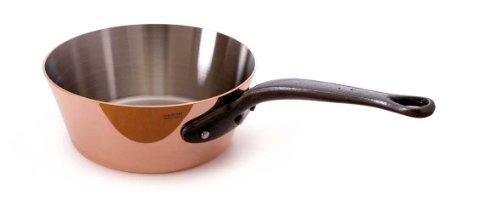 Mauviel M'heritage Copper M250c 6503.16 0.9-quart Splayed Saute Pan, Cast Iron Handle