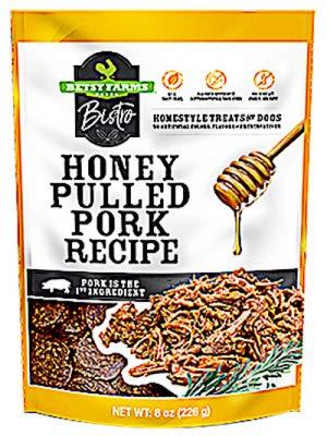 Betsy Farms Bistro 92220004008 Bistro Dog Treats Honey Pulled Pork 8-oz - Quantity 6