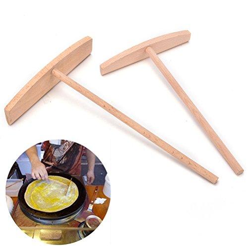 1 PCS 2 Sizes Crepe Maker Pancake Batter Wooden Spreader Stick Home Kitchen Tool Kit DIY