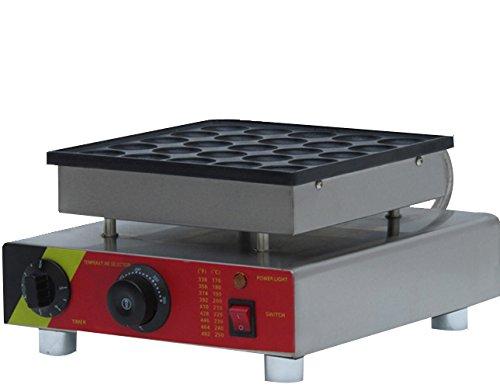 Generic Commercial Use Nonstick 110v 220v Electric 25-cavity 18 Poffertjes Mini Dutch Pancake Baker