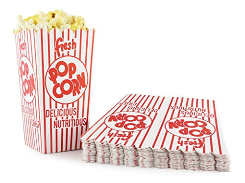 Snappy Popcorn 44-E Red and White Open Top Popcorn Boxes 8 Oz 500 Count