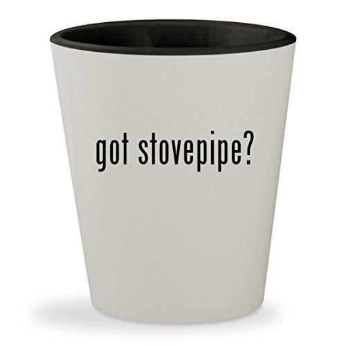 got stovepipe - White Outer Black Inner Ceramic 15oz Shot Glass