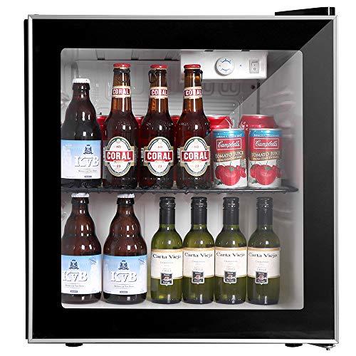 Northair Beverage Cooler and Fridge With Glass Reversible Door 60 Can Beverage Mini Fridge Adjustable Shelves Dispenser Countertop Refrigerator Cellars Perfect for Soda Beer or Small Drink