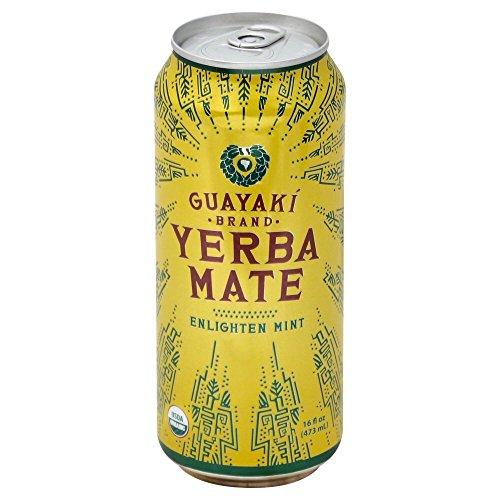Guayaki Organic Yerba Mate Enlighten Mint 155 Ounce Pack of 12