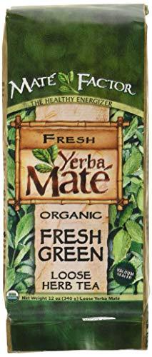 Mate Factor Organic Yerba Mate Original Fresh Green 12 Ounce