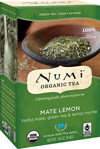 Numi Organic Tea Mate Lemon 18 Count Pack of 1 Box of Tea Bags Yerba Mate Green Tea Blend Packaging May Vary