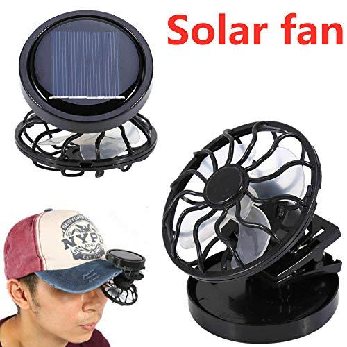 Ocamo Solar Fan Clip-on Hat Mini Clip Solar Sun Energy Power Panel Cell Cooling Fan Cooler