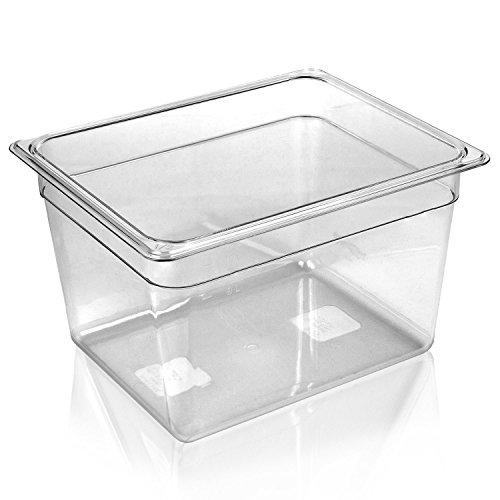 WyzerPro Sous Vide Container for Cooking – Fits Immersion Circulators Anova Nomiko Sansaire Polyscience – Heat Shatter Resist Dishwasher-safe – Tank Holds 12 Quarts for Sous Vide Water Bath