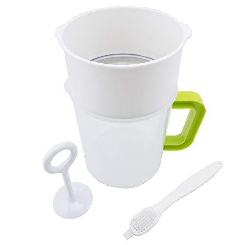 Multiple Usage Food Strainer Nut Milk Bag Replacement Yogurt Strainer Food Grade Polycarbonate And Stainless Steel Mesh BPA-Free Nut MilkSoy MilkJuiceTea Filter