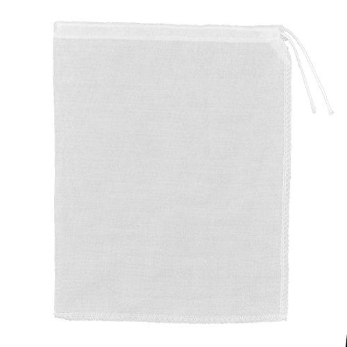 uxcell Household Kitchen Utensil Cotton Blends Soybean Milk Tea Residue Filter Bag White 22 x 18cm