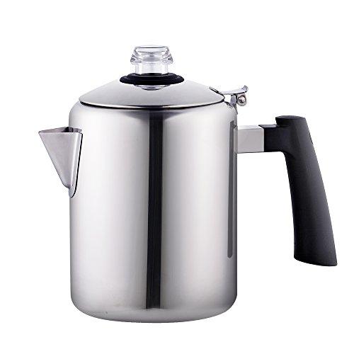 Cook N Home 8-Cup Stainless Steel Stovetop Coffee Percolator Tea