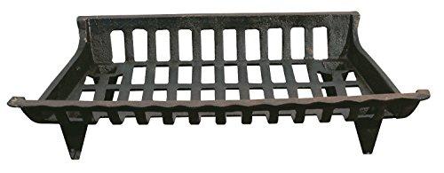 GHP Group CG24 Cast Iron 24 Black Fireplace Grate 6 H x 24 W x 15 D