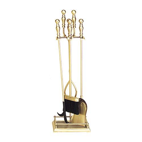 Minuteman International Oxford 5-piece Fireplace Tool Set Antique Brass