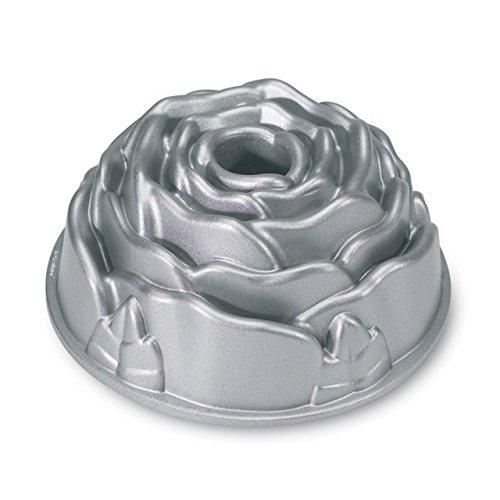 Nordic Ware Platinum Rose Cast Aluminum Bundt Pan