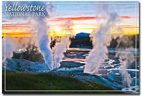 Yellowstone National Park Norris Geyser Basin Sunset Refrigerator Magnet Size 25 x 35