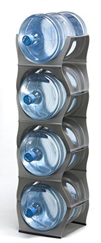 U Water Cooler Bottle Rack Silver Four Bottle Rack