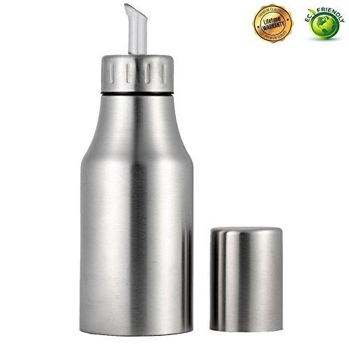 Oil Dispenser BottleStainless Steel Olive OilVinegarSauce Dispenser Cruet with No Drip Pouring SpoutDurable Oil Pourer Bottles Olive Oil Container 500ml