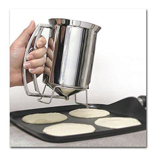 Pancake Batter Dispenser Stainless Steel Cupcakes Waffles Muffins Cake Baking New by CM