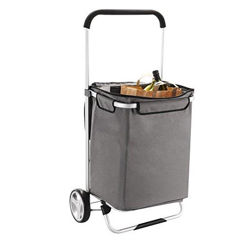 Homz Euro Tote Shopping Cart Large