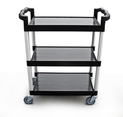 New Star Heavy Duty Utility Cart Bus Cart 250 lbs Load 32x16x38-inch Black