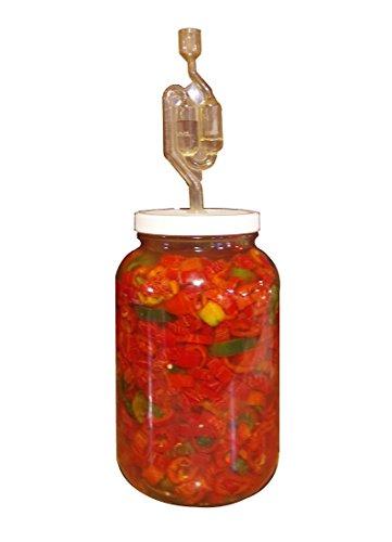 The Picklemeister Glass Fermentation Jar Picklemeister 1 Gallon