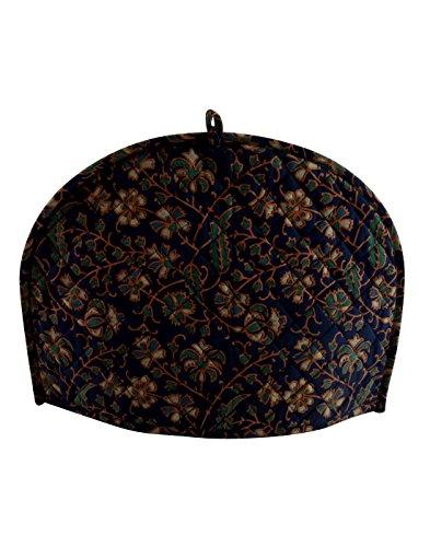 Art box Store Dark Blue Tea Cozy 14x11 Inches Tea Pot Cover Small Size Handmade Indian Kitchen Décor
