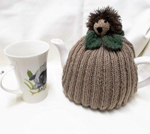 Hand Knitted Hedgehog Tea Cozy fits 4 - 6 cup tea pot