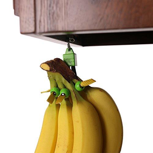 Unique Banana Holder by Banana BungeeEasy to Use Banana Hanger Leading Banana Hook Alternative Most Effective Fruit Storage Since the Banana Tree 4 Cord Lock Design Hang Anywhere