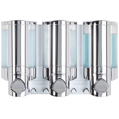 Better Living Products 76345-1 AVIVA Three Chamber Dispenser Chrome