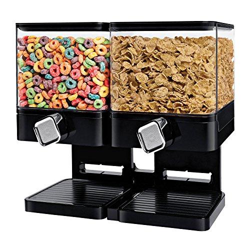 Zevro KCH-06134 Compact Dry Food Dispenser Dual Control BlackChrome