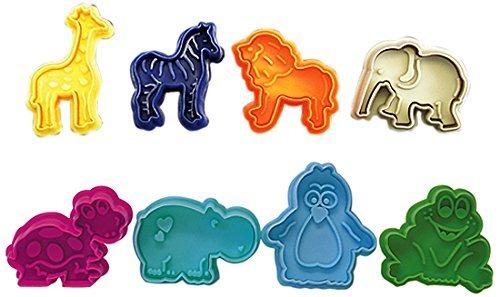 R&M International 0434 Party Animals PastryCookieFondant Stamper Set Assorted Designs 8-Piece Set