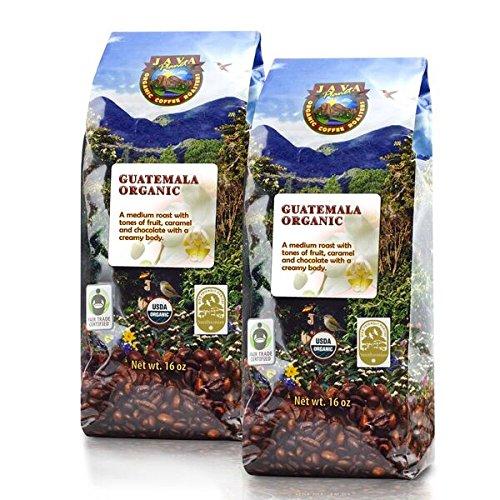 Java Planet - Guatemalan USDA Organic Coffee Beans Medium Roast Shade Grown Bird Friendly Rainforest Alliance Arabica Gourmet Specialty Grade A - packaged in 2 1 LB bags
