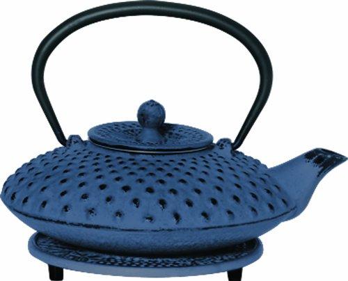 G&H Tea Services Shimizu Japanese Tetsubin 23-Ounce Teapot and Trivet Blue
