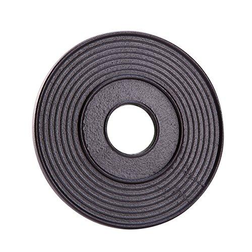 THY COLLECTIBLES Black Cast Iron Trivet Teapot Tetsubin Stand Circles Pattern
