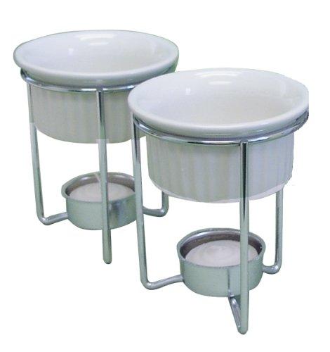R M International Set of 2 Butter Warmers White Porcelain