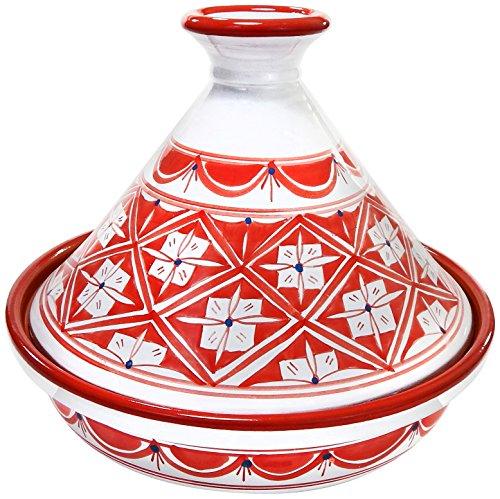 Le Souk Ceramique NJ20CT Cookable Tagine 12 Inch Nejma