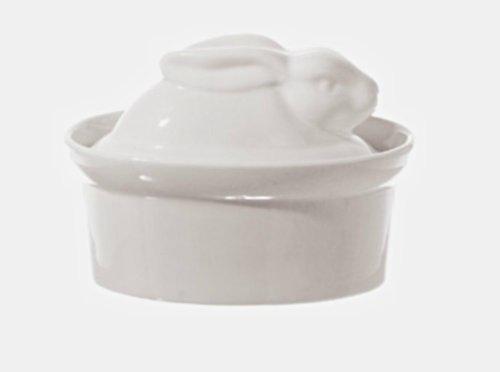 La Porcellana Bianca White Porcelain Rabbit Shaped Casserole Dish Terrine 10x7cm P001501010