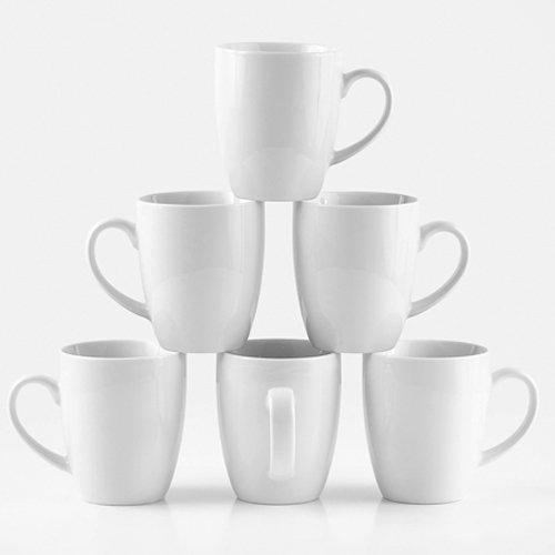 Amuse- Professional BaristaCozy Collection Mug for Coffee Tea or Chocolate- Set of 6 Medium - 12 oz