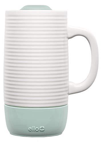 Ello Jane Ceramic Travel Mug with Slider Lid 18 oz Yucca