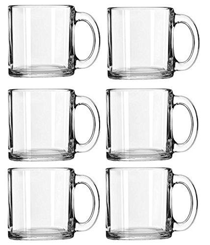 Libbey Crystal Coffee Mug Warm Beverage Mugs Set of 13 oz 6