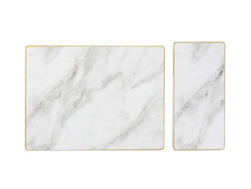 Sugar Cloth SC5AEGSMB02 Serving Set 2-piece MarbleGold Trim