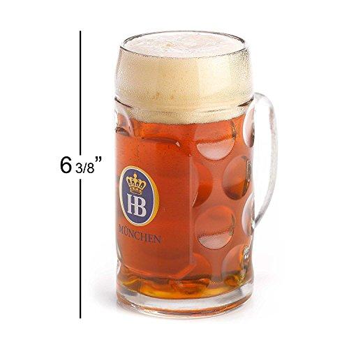 1 X 05 Liter HB Hofbrauhaus Munchen Dimpled Glass Beer Stein