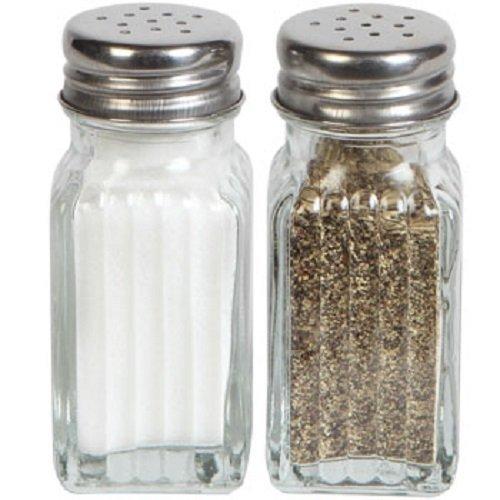 1 X Glass Salt Pepper Shaker Set by Greenbrier