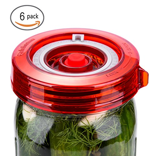 Galahome Waterless Airlock For Mason Jar Fermentation Lids Red