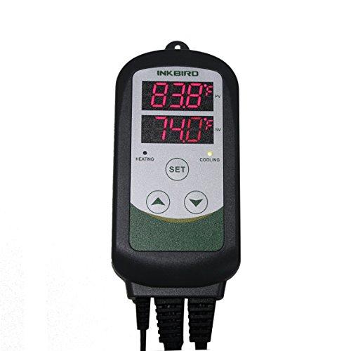 Inkbird Max1200W Heater Cool Device Temperature Controller Carboy Fermenter Greenhouse Terrarium Temp Control