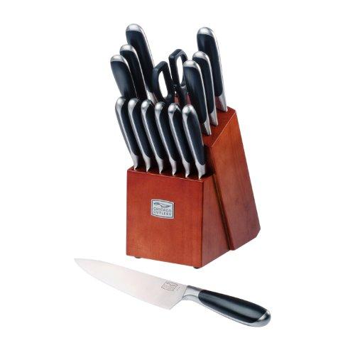Chicago Cutlery Belden High-Carbon Stainless Steel Knife Block Set 15-Piece